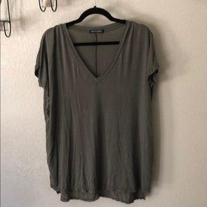 """Brandy Melville Oversized V neck top """"one size"""""""